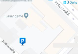 Parkoviště Jablonského  - mapa