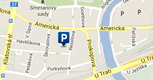 Parkoviště Karlova - mapa
